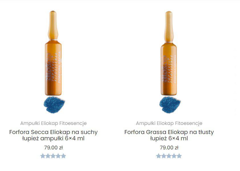 szampony przeciwłupieżowe Eliokap Ampułki